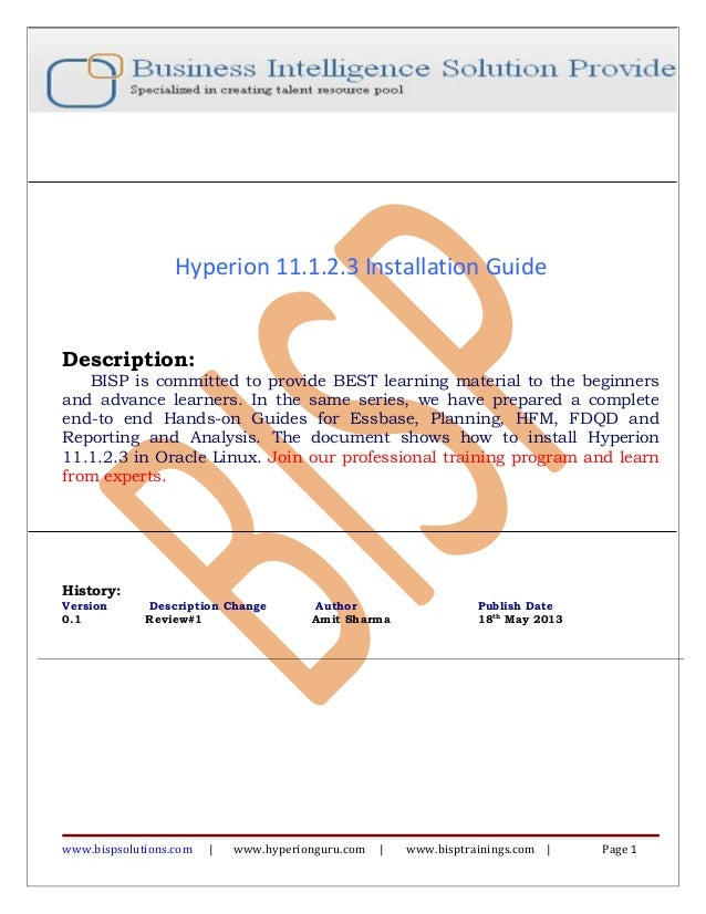 Hyperion 11-1-2-3-installation-guide-on-linux