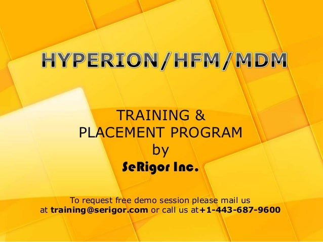 Hyperion Training and Placement Program