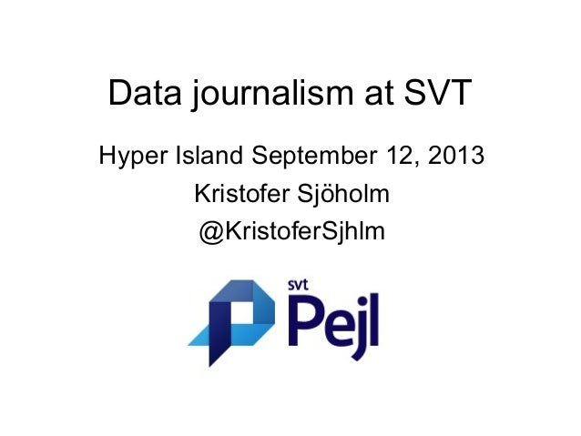 Data journalism at SVT