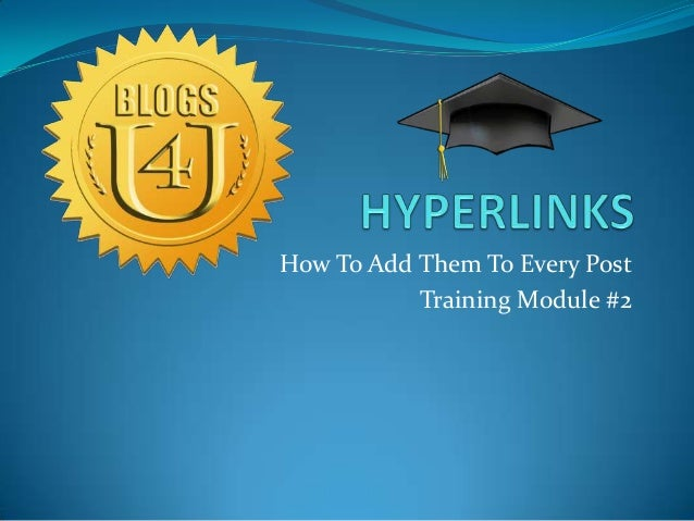 How To Add Them To Every Post Training Module #2