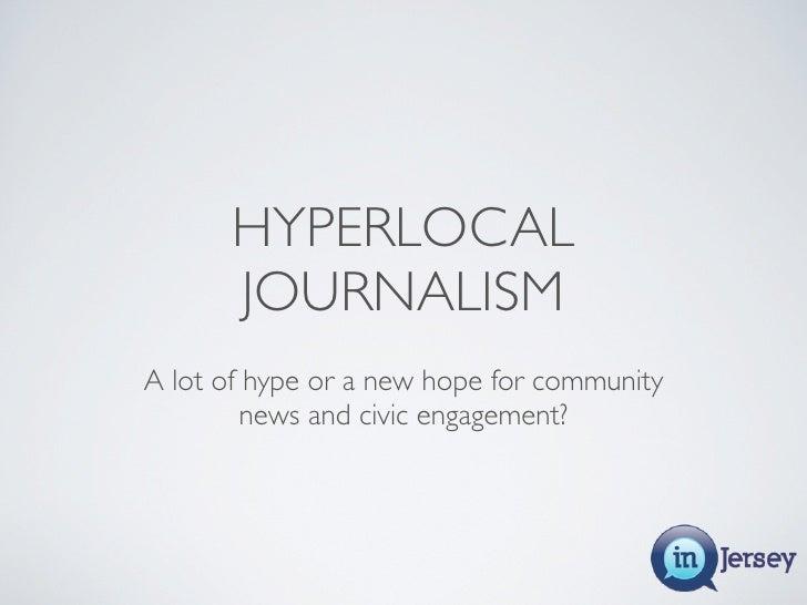 Hyperlocal 101