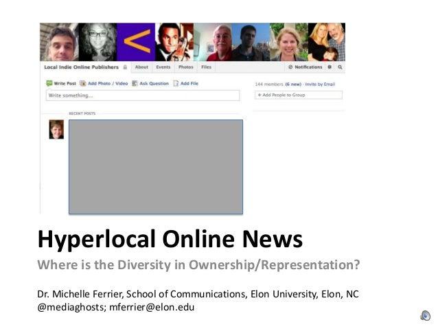 Hyperlocal Online News Sites: Where's the Diversity?