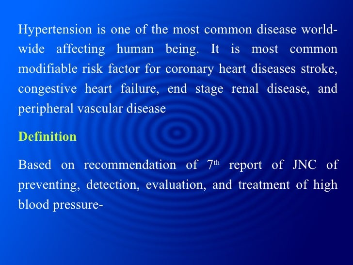 Hypertension is one of the most common disease world-wide affecting human being. It is most common modifiable risk factor ...
