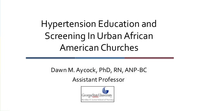 Hypertension Education and Screening In Urban African American Churches