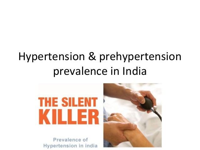 Hypertension & prehypertension      prevalence in India