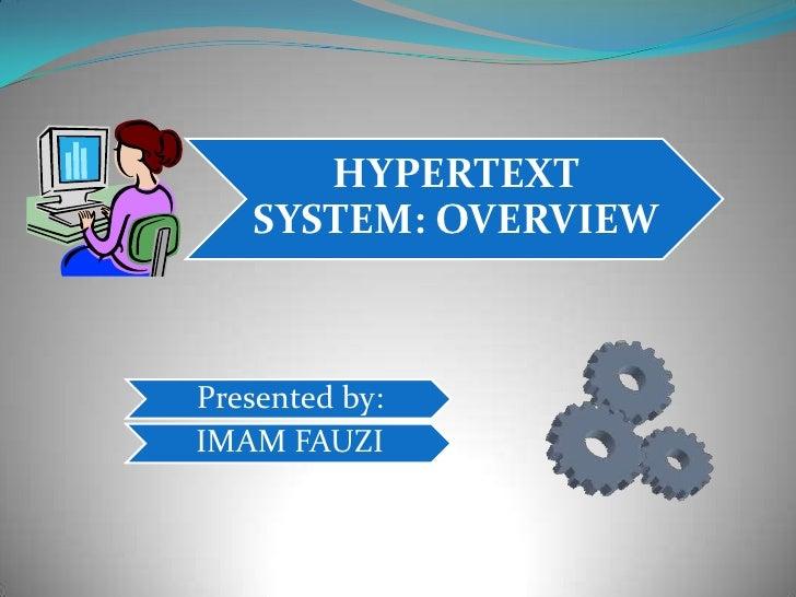 Hypertext system