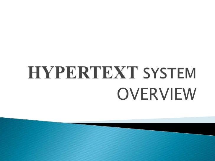 Hypertext system group 1