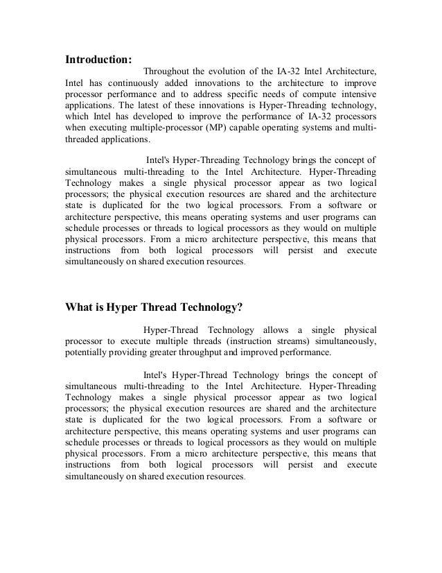 Hyper thread technology