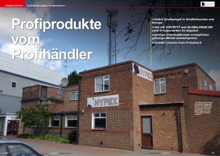 FIRMEN REPORT                         Großhändler Hypex, Großbritannien          Profiprodukte                            ...
