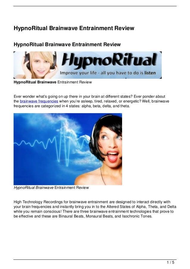 HypnoRitual Brainwave Entrainment Review