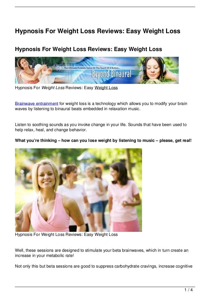 Hypnosis For Weight Loss Reviews: Easy Weight LossHypnosis For Weight Loss Reviews: Easy Weight LossHypnosis For Weight Lo...