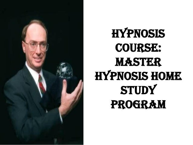 Hypnosis course master hypnosis home study program