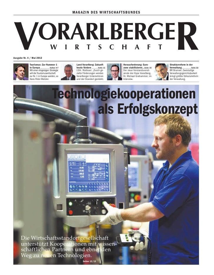 MAGAZIN DES WIRTSCHAFTSBUNDESVAusgabe Nr. 4 / Mai 2012                        orarlberge             Tourismus: Zur Nummer...