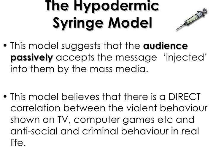 a survey of the main features of the hypodermic syringe model