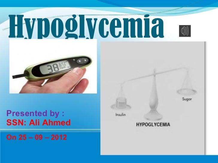 Hypoglycemia ppt