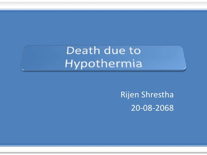 Hypothermia rs