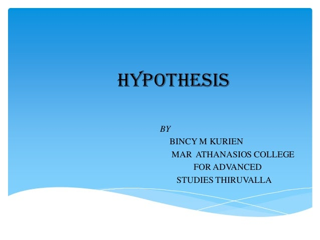 Is hyphothesis