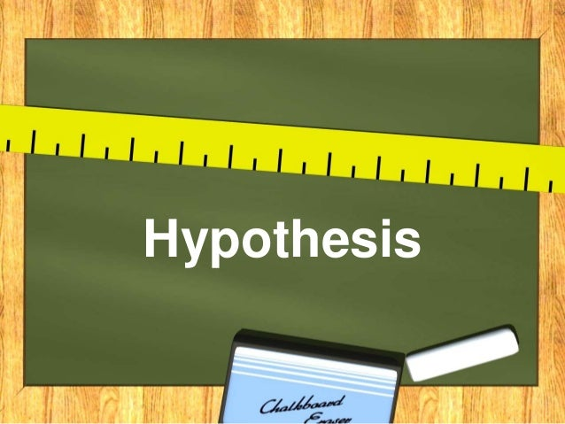 what is hypothesis