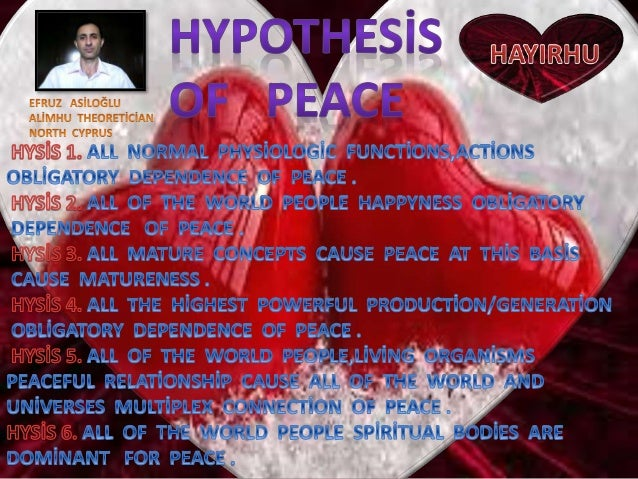 Hypothesi̇s  of  peace  1 6