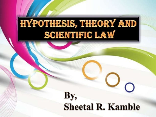 hypothesis law Words such as fact, theory and law get thrown around a lot when it comes to science, however, they mean something very specific and knowing the difference.