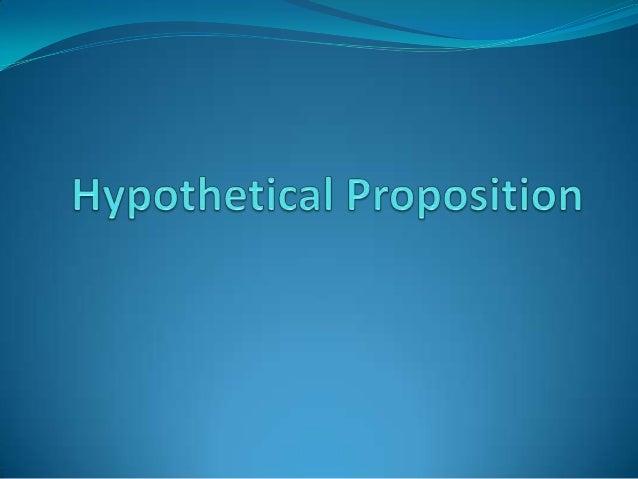 Hypothetical proposition