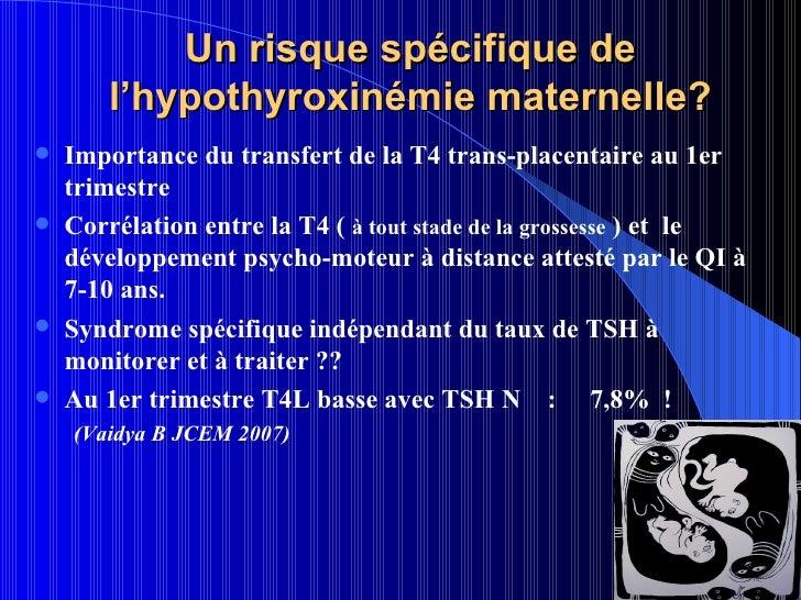 Hypothyroidie et grossesse - Risque fausse couche premier trimestre ...