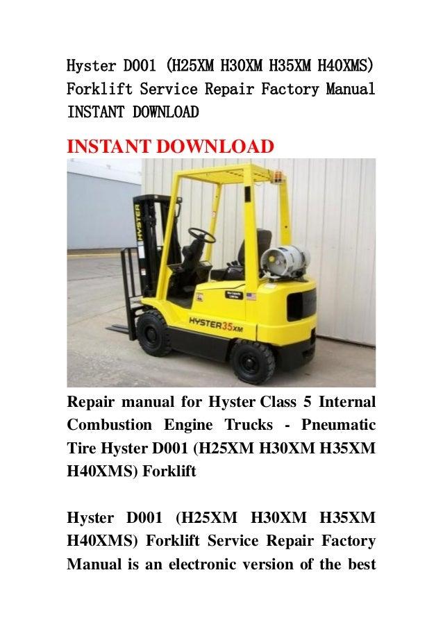 hyster d001  h25 xm h30xm h35xm h40xms  forklift service repair facto nissan murano manual 2014 nissan murano manual 2009