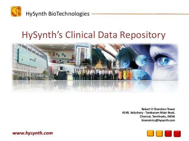 HySynth Clinical Data Repository