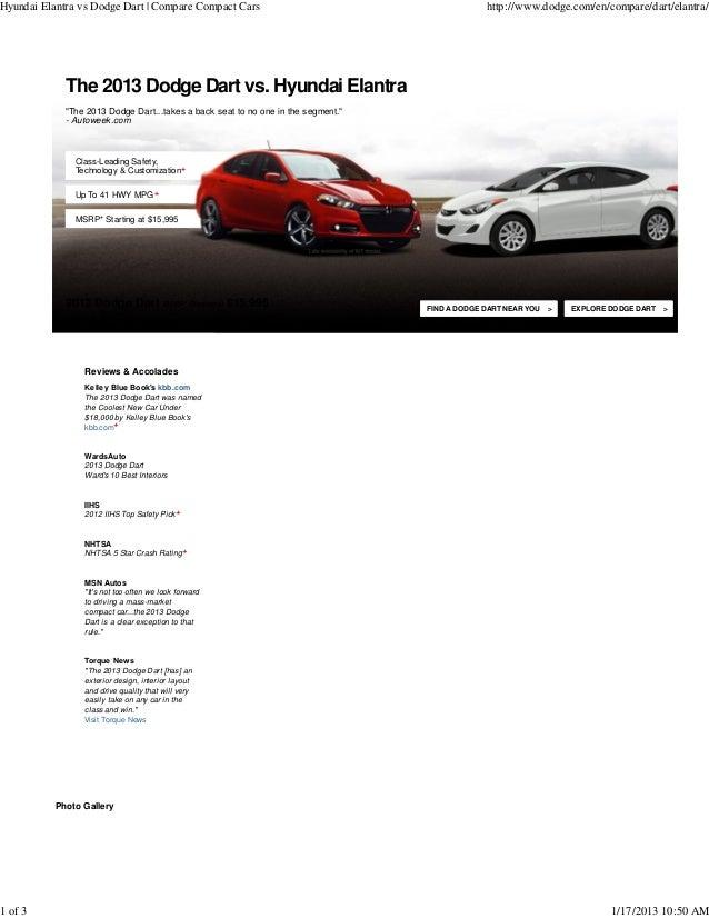 Hyundai Elantra vs Dodge Dart  compare in Hartford, CT