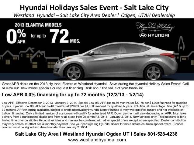 Hyundai Holidays Sales Event - Salt Lake City  Westland Hyundai – Salt Lake City Area Dealer l Odgen, UTAH Dealership  Gre...