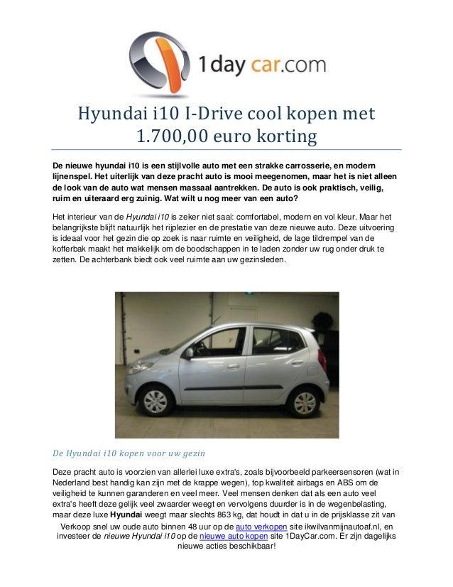 Hyundai i10 i drive cool kopen met 1700 euro korting