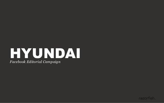 HYUNDAIFacebook Editorial Campaign