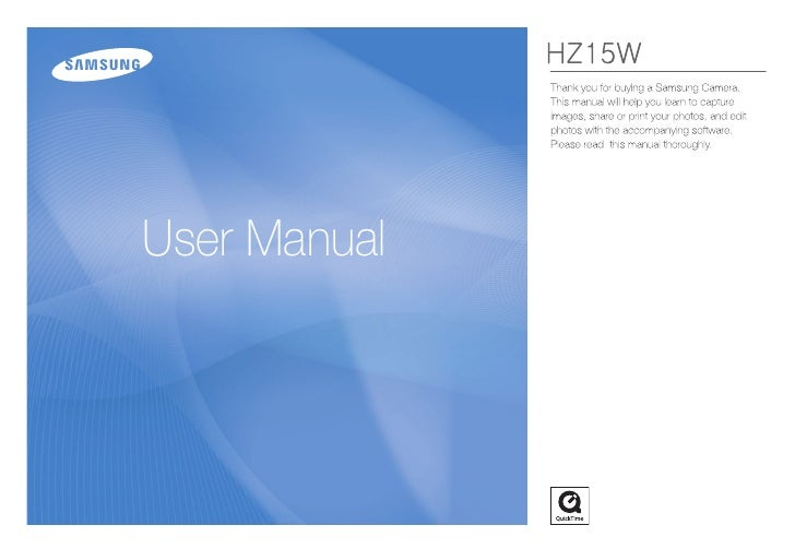 Samsung Camera HZ15W User Manual