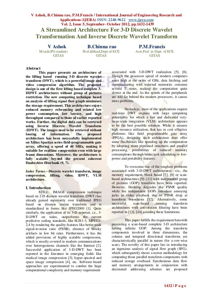 V Ashok, B.Chinna rao, P.M.Francis / International Journal of Engineering Research and                  Applications (IJER...