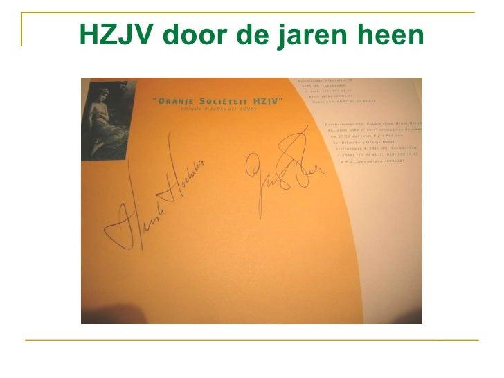 Hzjv door de jaren heen Hein Willem Leeraar
