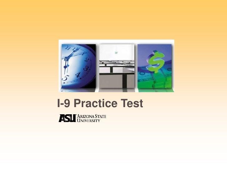 I-9 Practice Test