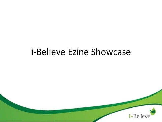 i-Believe Ezine Showcase