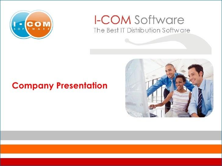 Presentation of I-Com Software