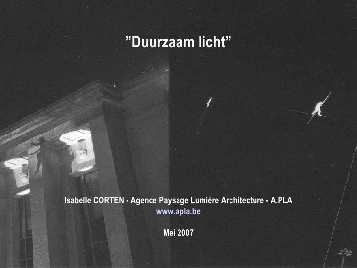I. Corten   LumièRedurable Nl