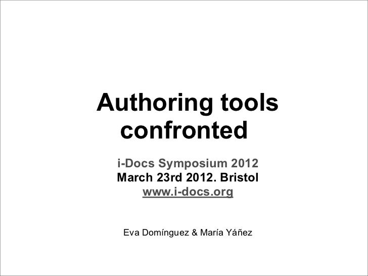 i-Docs: Authoring Tools Confronted