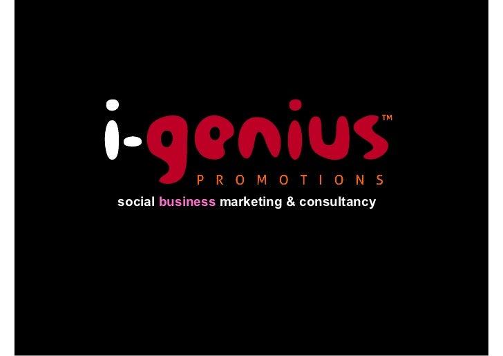 i-genius promotions - social business marketing & strategic consultancy