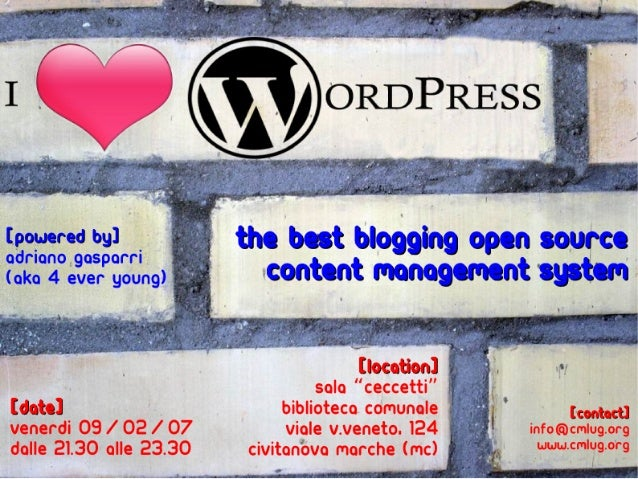 The Best Blogging Open Source [powered by]                    adriano gasparri                            Content Manageme...