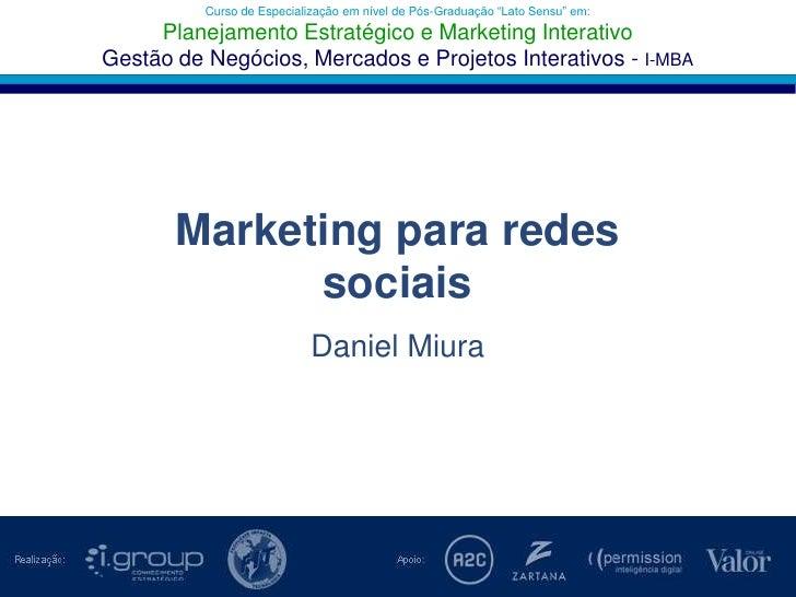 """Curso de Especialização em nível de Pós-Graduação """"Lato Sensu"""" em:Planejamento Estratégico e Marketing Interativo<br />Ges..."""