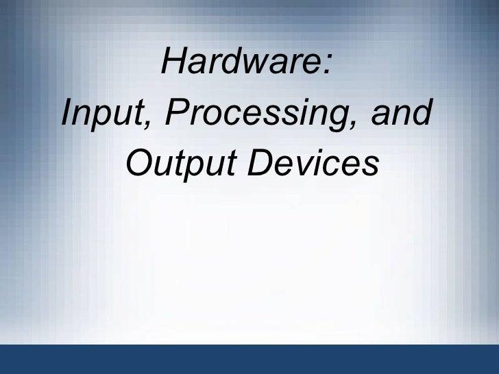 I.o devices 3