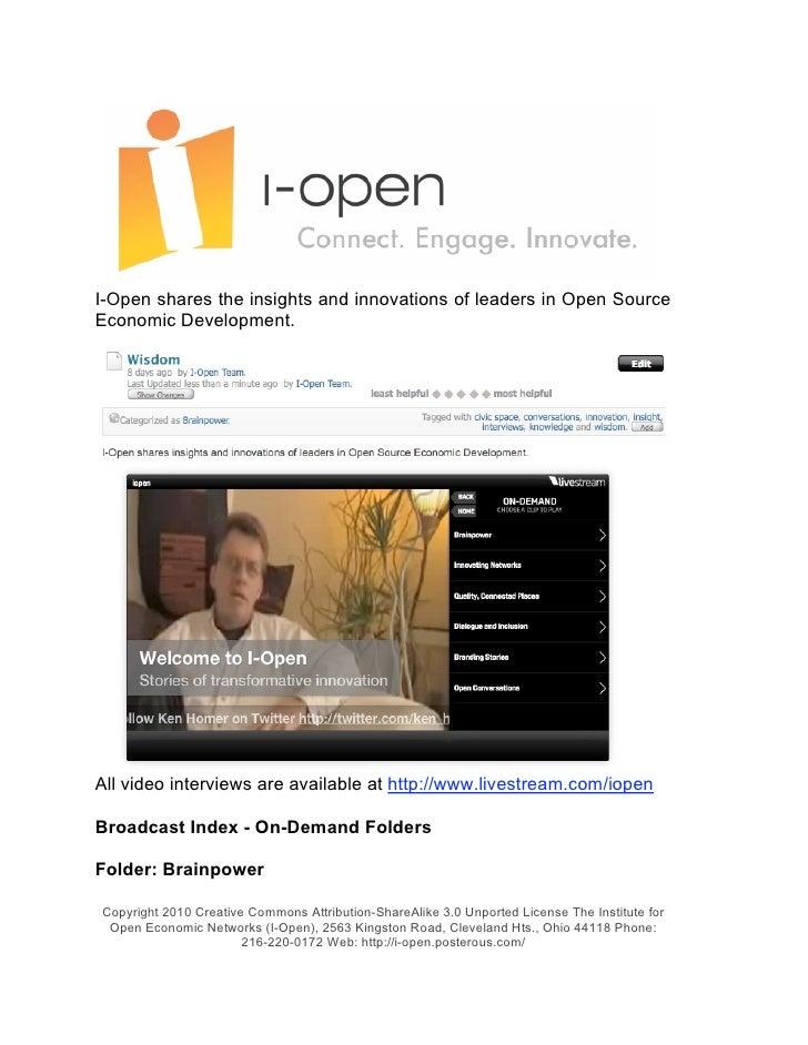 I-Open Civic Wisdom Library 2010