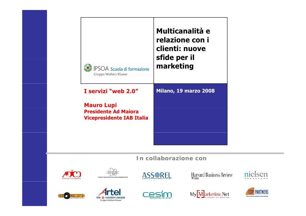 I servizi Web 2.0 - Mauro Lupi