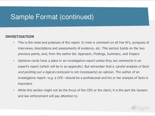examples of professional reports