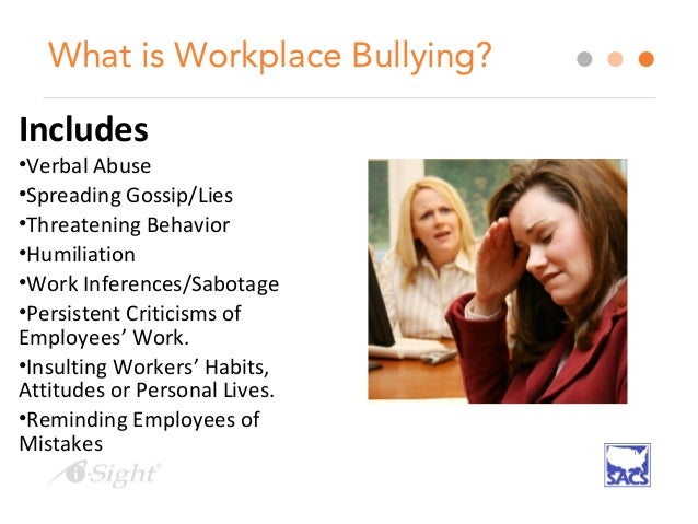 I Sight Tim Dimoff Investigating Workplace Bullying Ppt