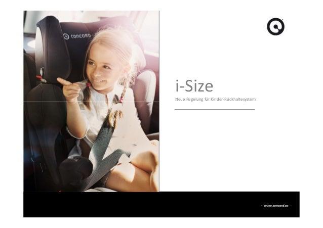 i-Size Neue Regelung für Kinder-Rückhaltesystem