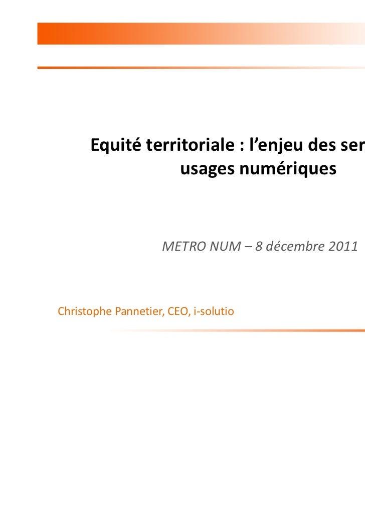 I Solutio_Christophe Pannetier-equité territoriale